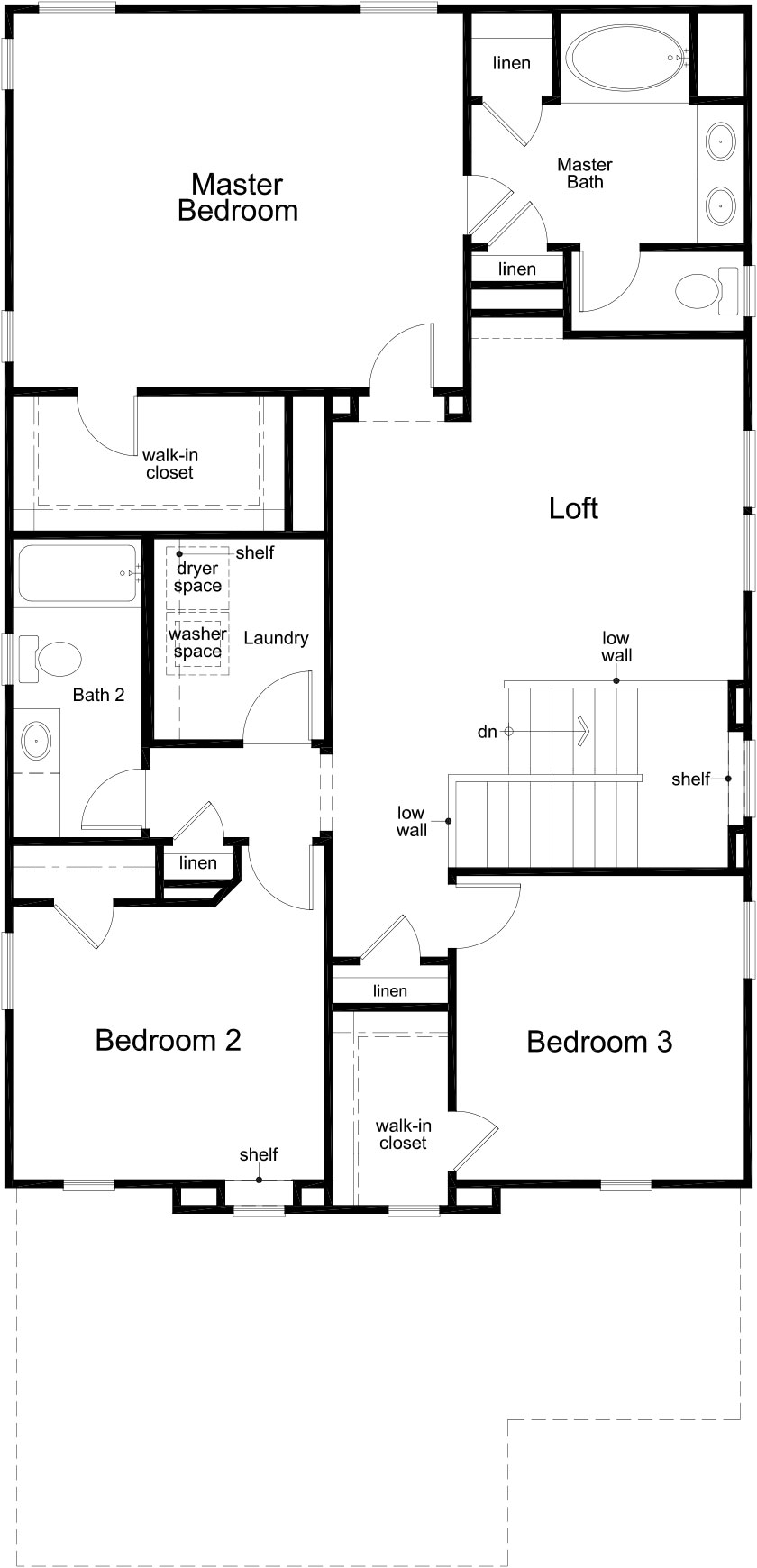 New Homes in Houston, TX - Plan 2354, Second Floor