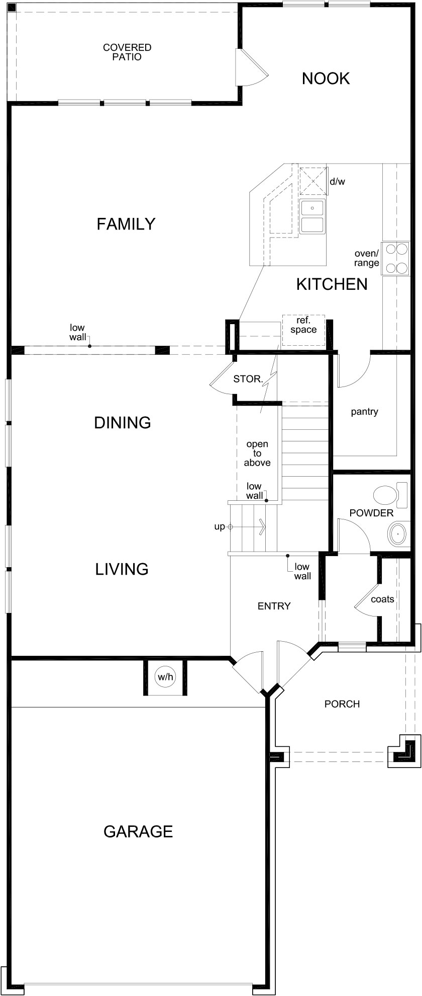 New Homes in Katy, TX - Plan 2825, First Floor