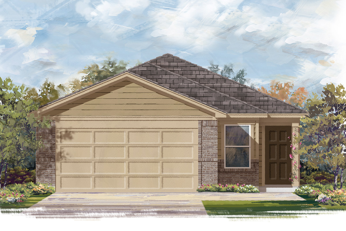 New Homes in Porter, TX - Plan 1454 Modeled