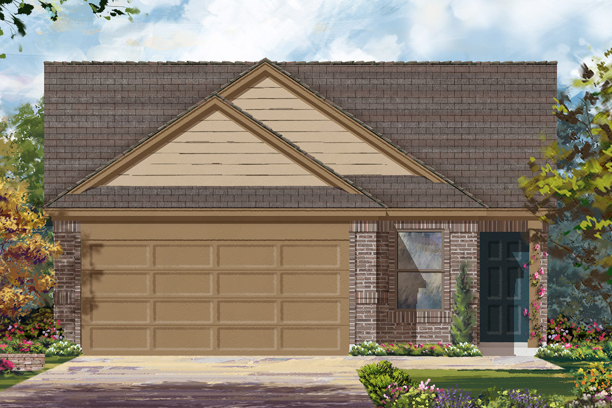 New Homes in Houston, TX - Benson Trace Plan 1585 - Elevation B