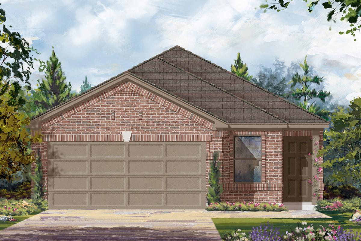 New Homes in Houston, TX - Benson Trace Plan 1585 - Elevation C