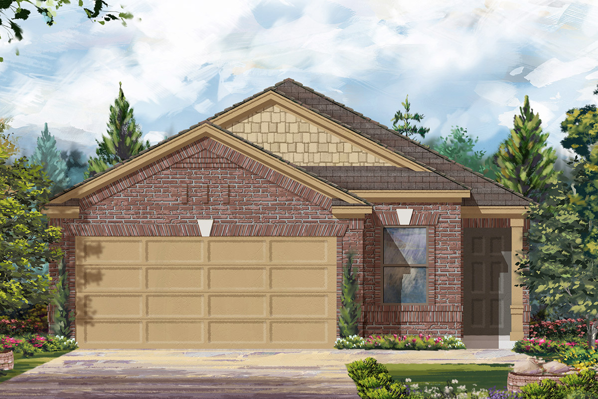 New Homes in Houston, TX - Benson Trace Plan 1585 - Elevation D