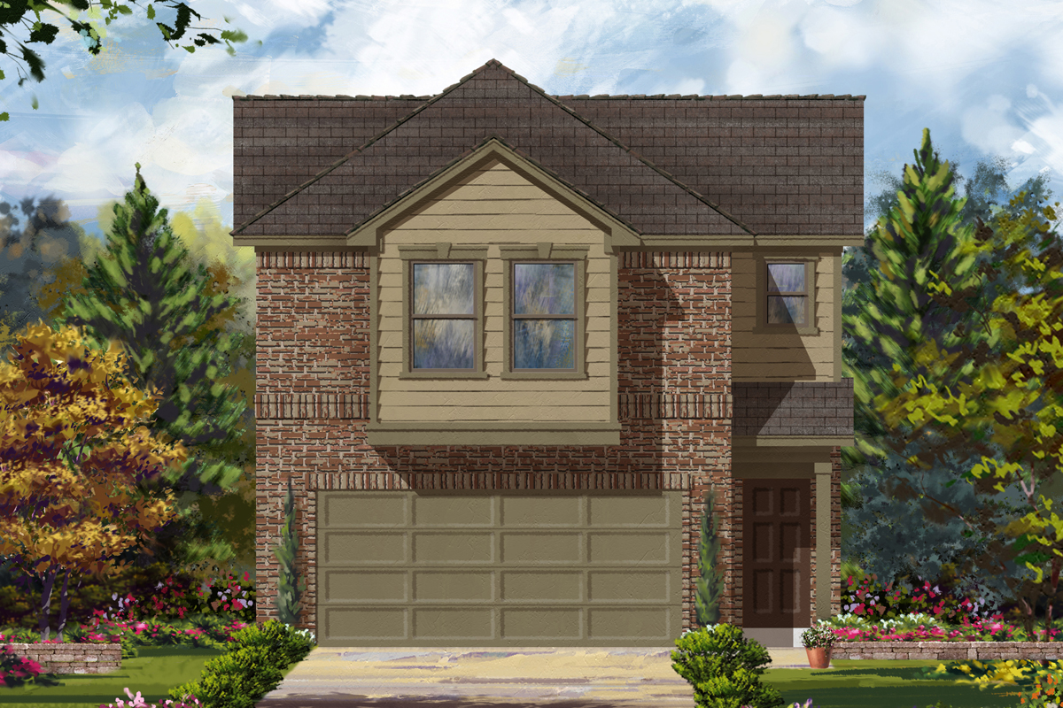 New Homes in Houston, TX - Timber Crossing Plan 1693 - Elevation B