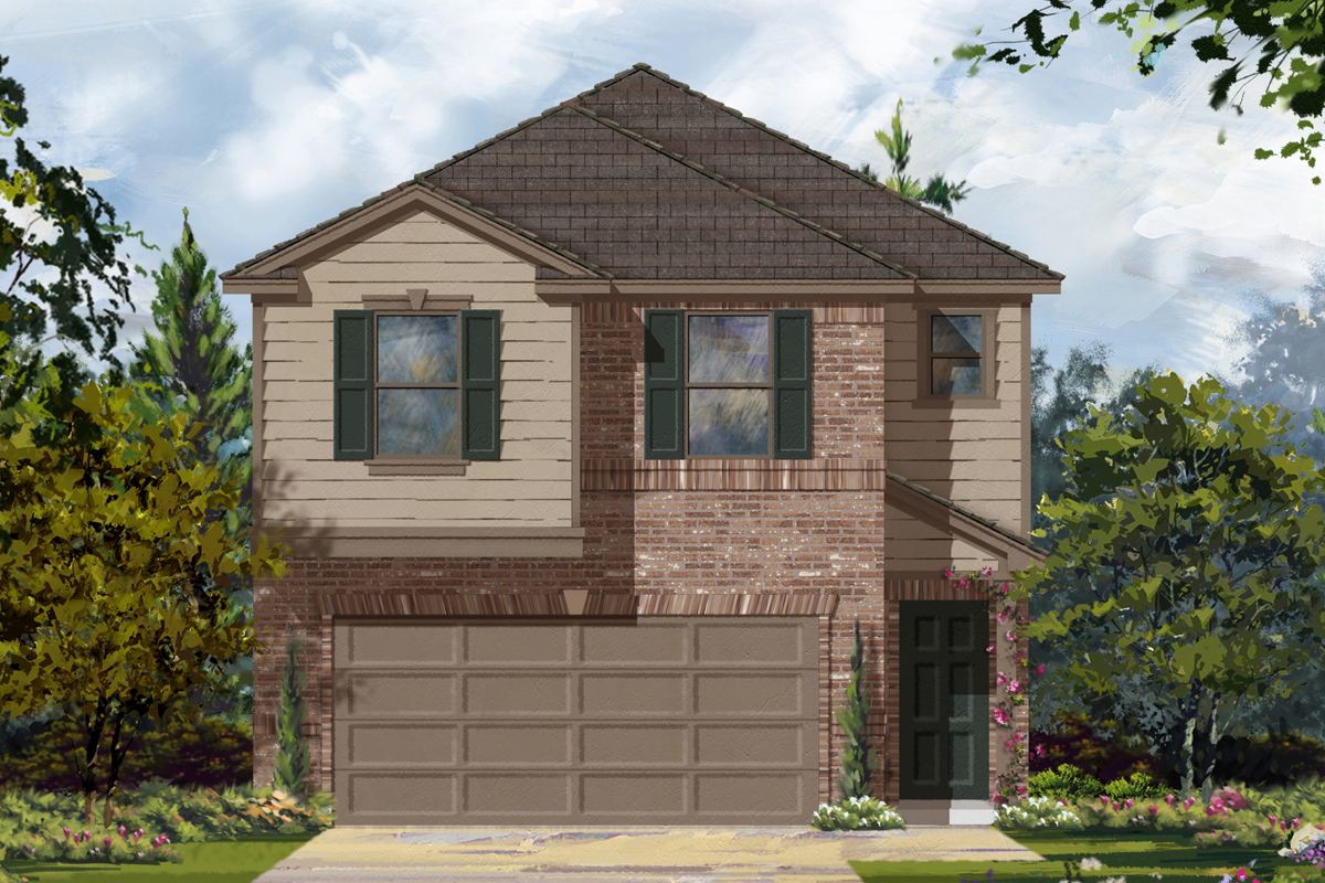 New Homes in Houston, TX - Timber Crossing Plan 1693 - Elevation C