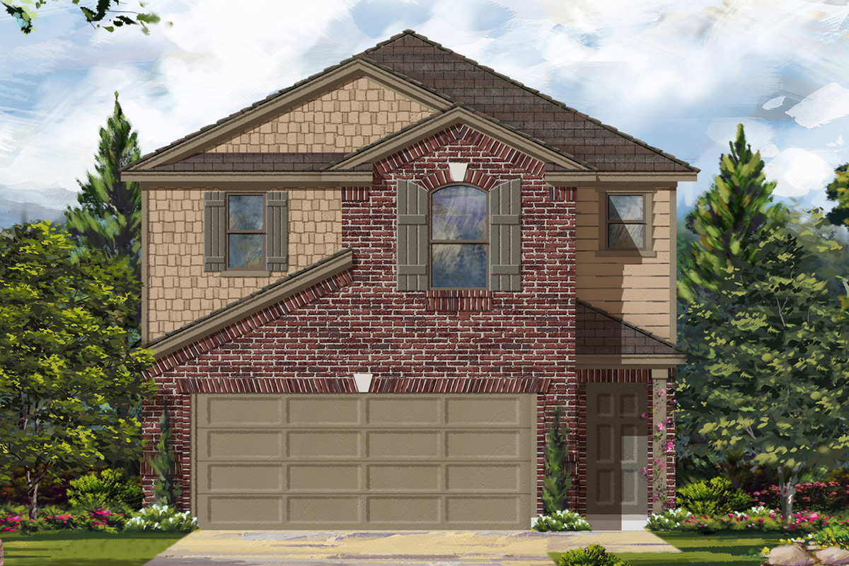 New Homes in Houston, TX - Timber Crossing Plan 1693 - Elevation D