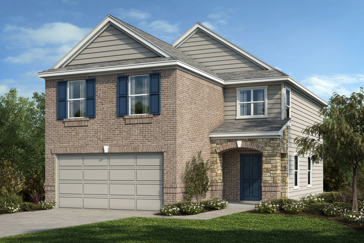 New Homes in Houston, TX - Benson Trace Plan 1909 - Elevation D