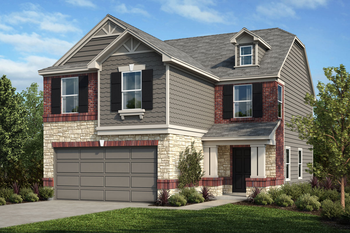 New Homes in Houston, TX - Benson Trace Plan 1909 - Elevation E