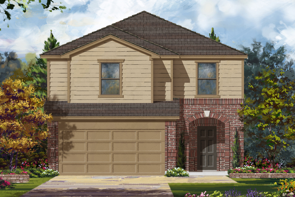 New Homes in Houston, TX - Benson Trace Plan 2124 - Elevation B