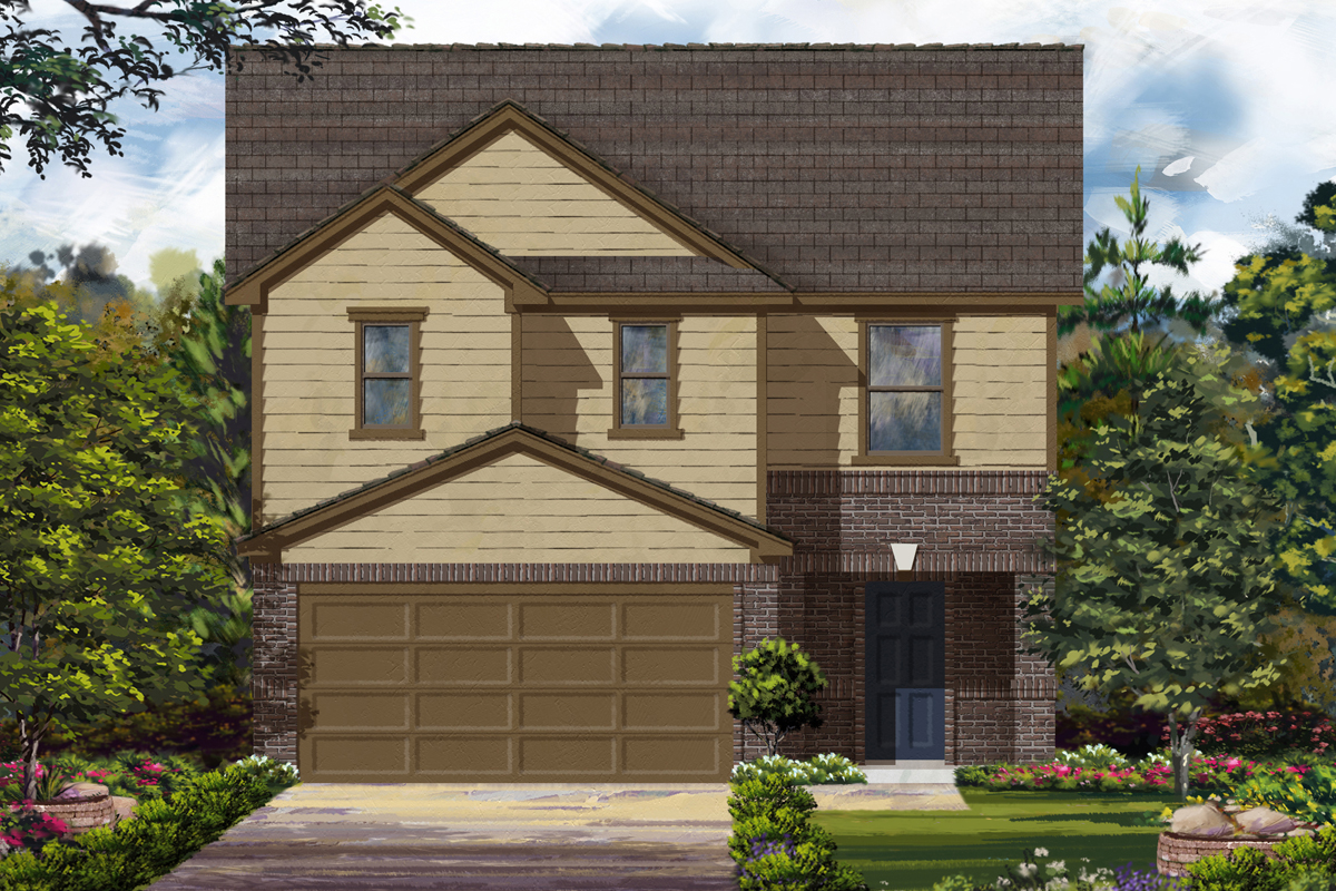 New Homes in Houston, TX - Benson Trace Plan 2124 - Elevation C