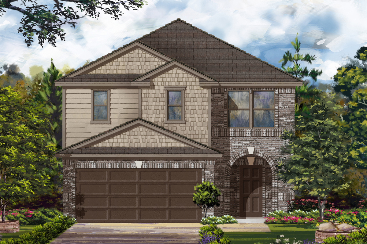 New Homes in Houston, TX - Benson Trace Plan 2124 - Elevation D