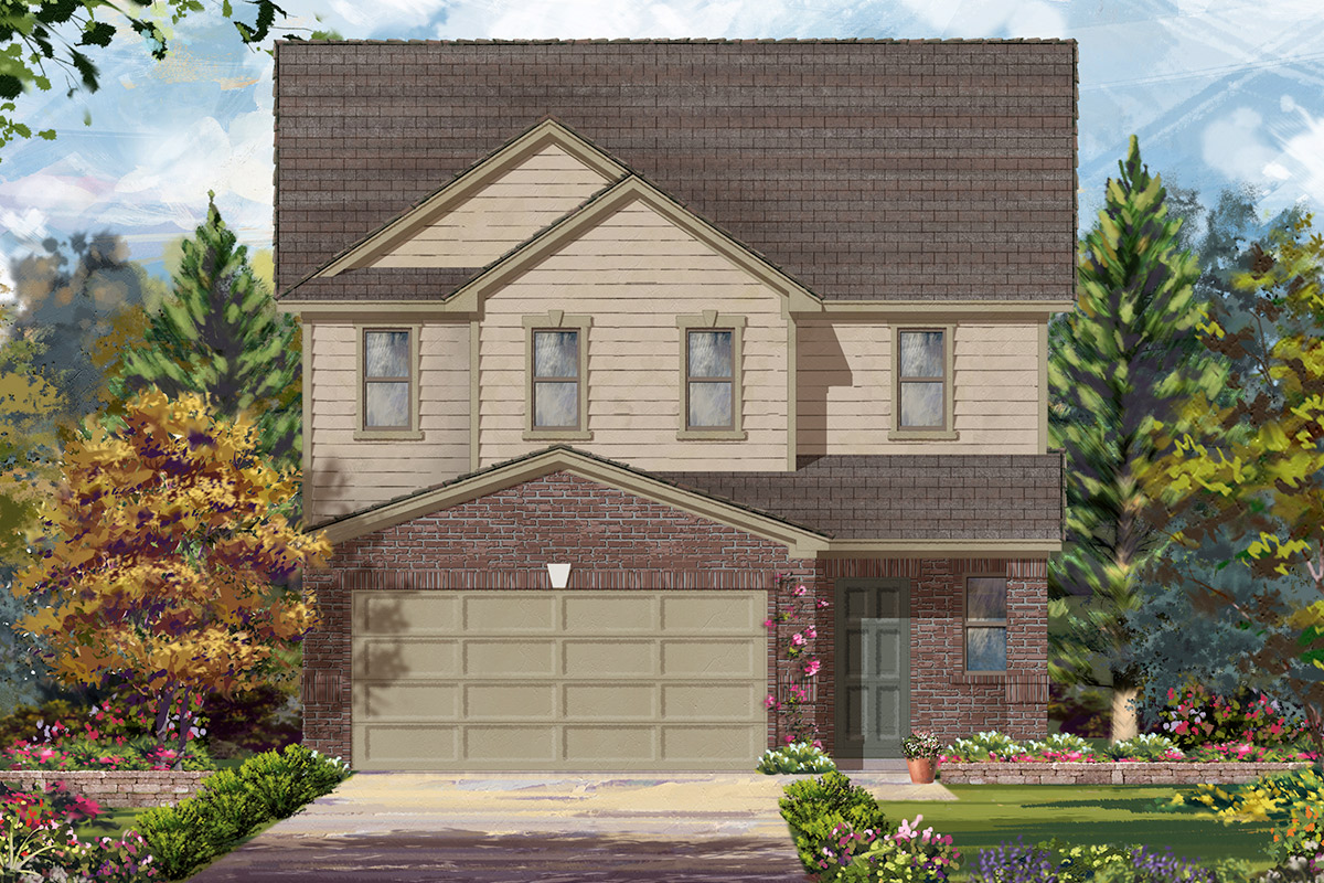 New Homes in Houston, TX - Benson Trace Plan 2354 - Elevation B