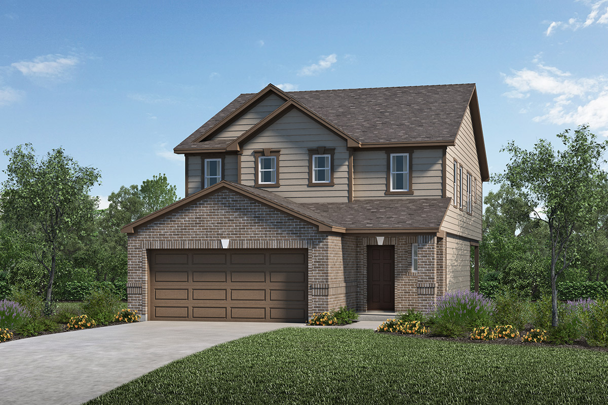 New Homes in Houston, TX - Benson Trace Plan 2354 Elevation B