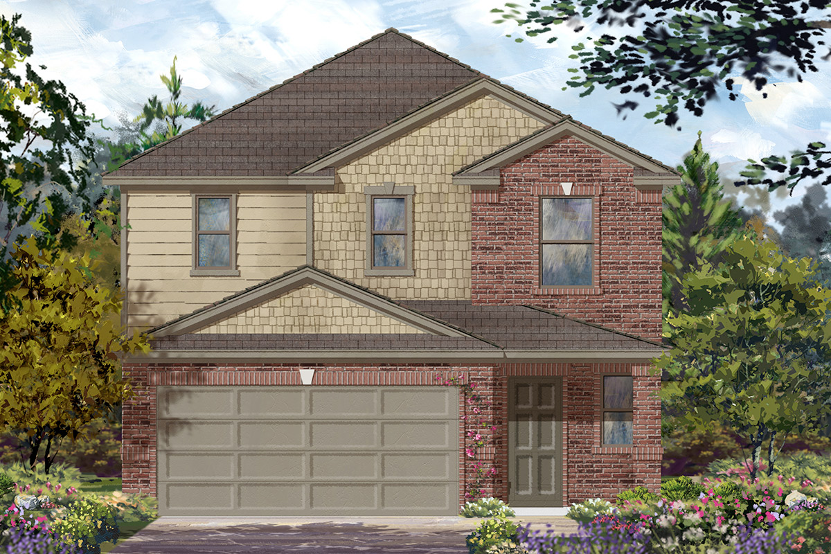 New Homes in Houston, TX - Benson Trace Plan 2354 - Elevation C