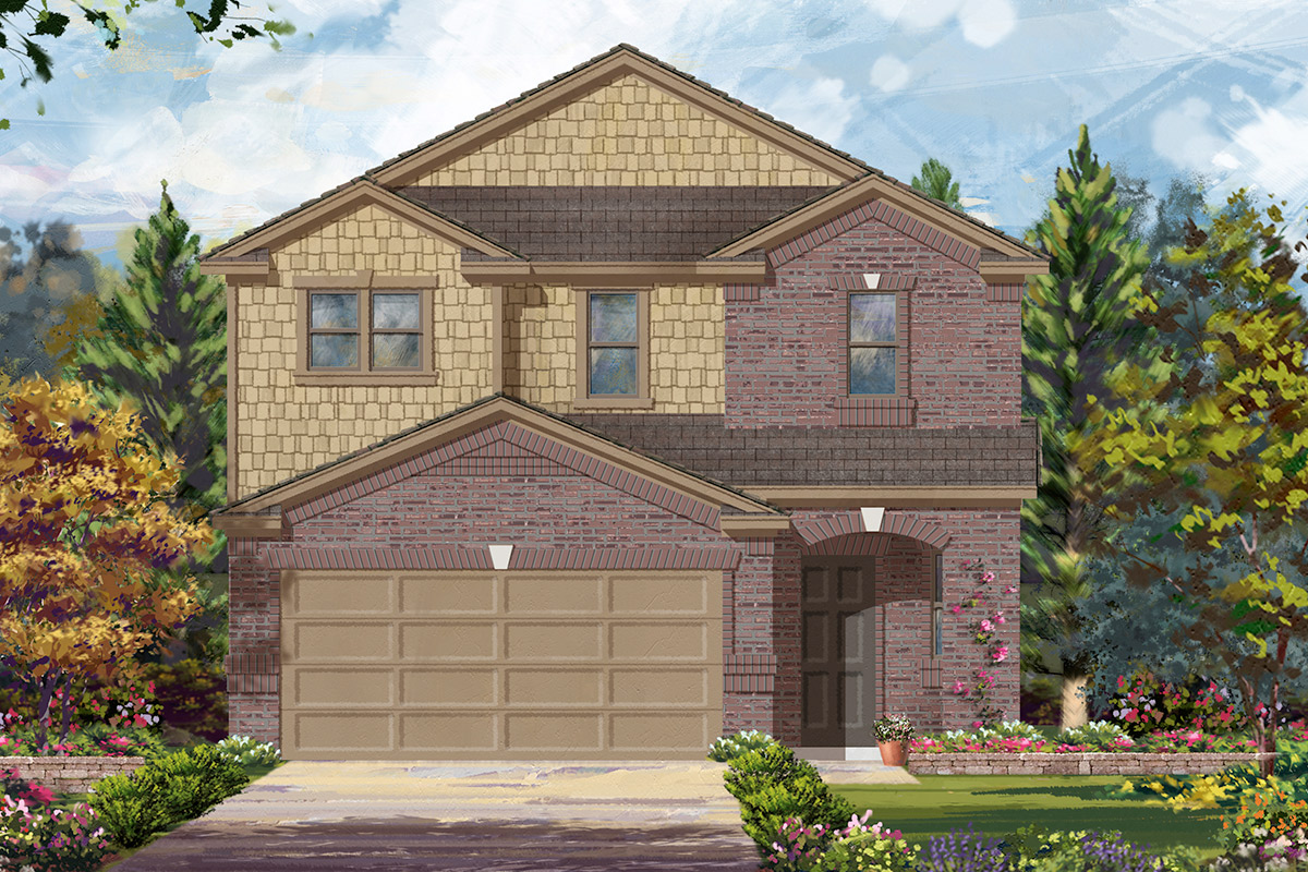 New Homes in Houston, TX - Benson Trace Plan 2354 - Elevation D