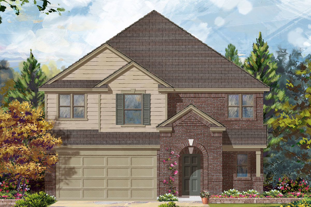 New Homes in Katy, TX - Elevation D