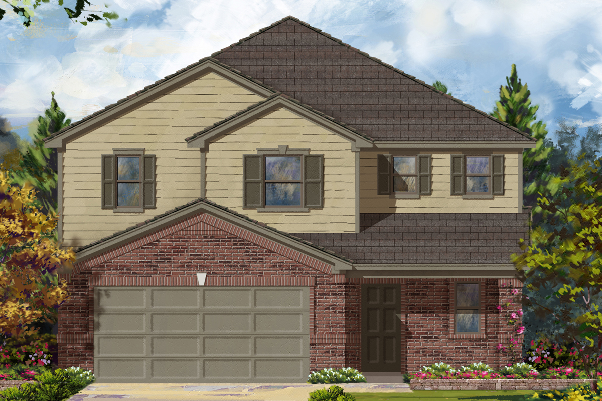 New Homes in Richmond, TX - Deer Run Meadows Plan 2526 Elevation A