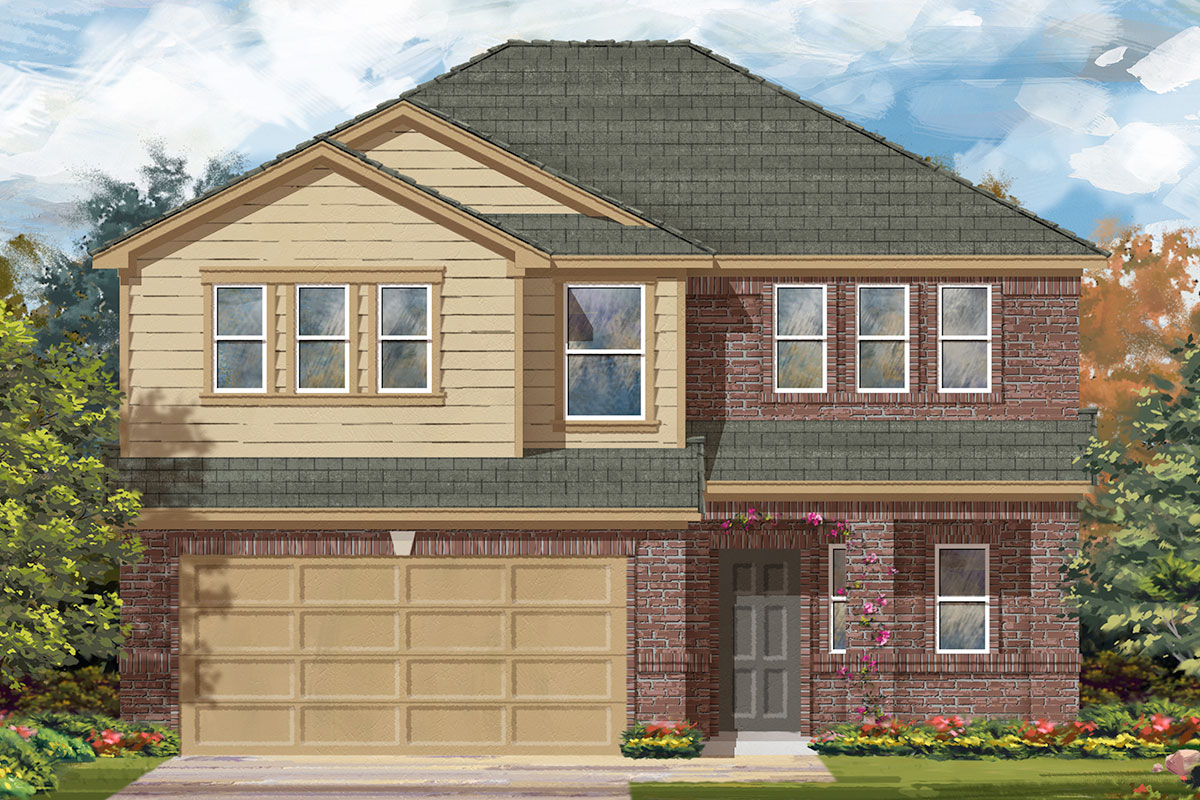 New Homes in Katy, TX - Anserra Springs Plan 2596 - Elevation F