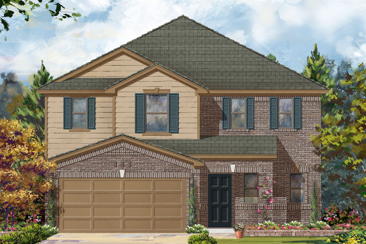 New Homes in Porter, TX - Elevation A