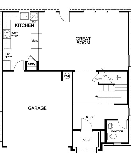 New Homes in La Marque, TX - Plan 2004, First Floor