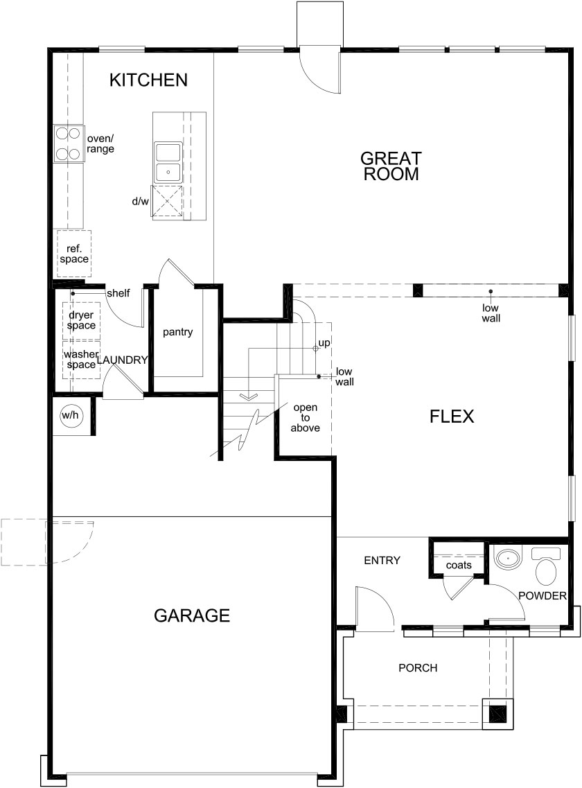 New Homes in Missouri City, TX - Plan 2372, First Floor