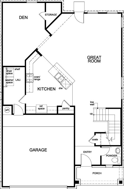 New Homes in Richmond, TX - Plan 2526, First Floor