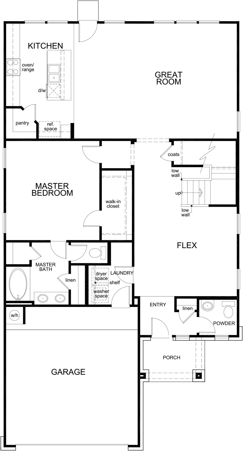 New Homes in Katy, TX - Plan 2596, First Floor