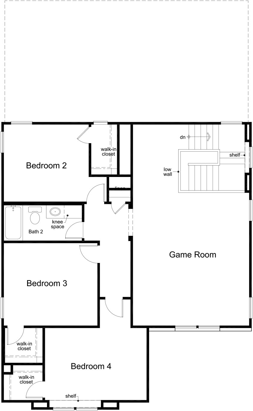 New Homes in Porter, TX - Plan 2596, Second Floor