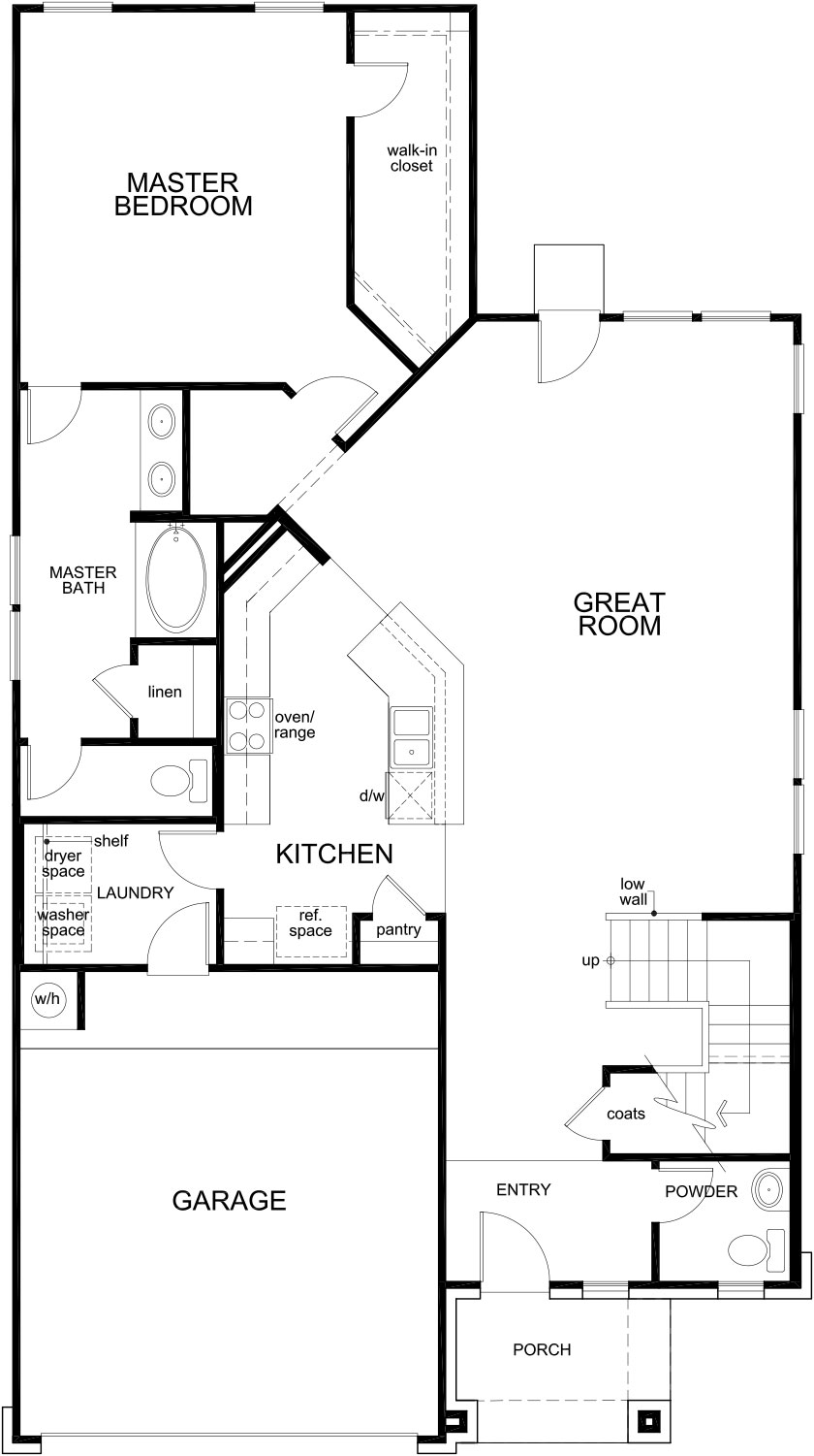 New Homes in Katy, TX - Plan 2844, First Floor