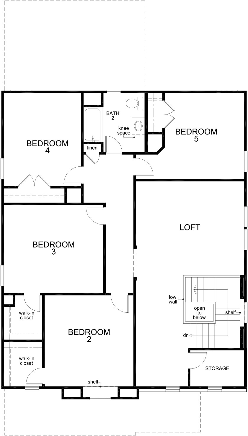 New Homes in Katy, TX - Plan 2844, Second Floor