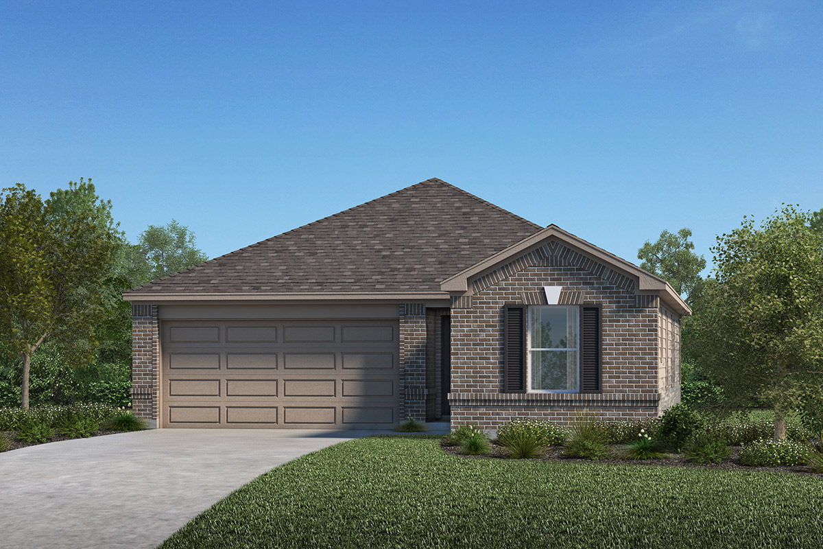 New Homes in Porter, TX - Brookwood Forest Springs Plan 1631 Elevation A