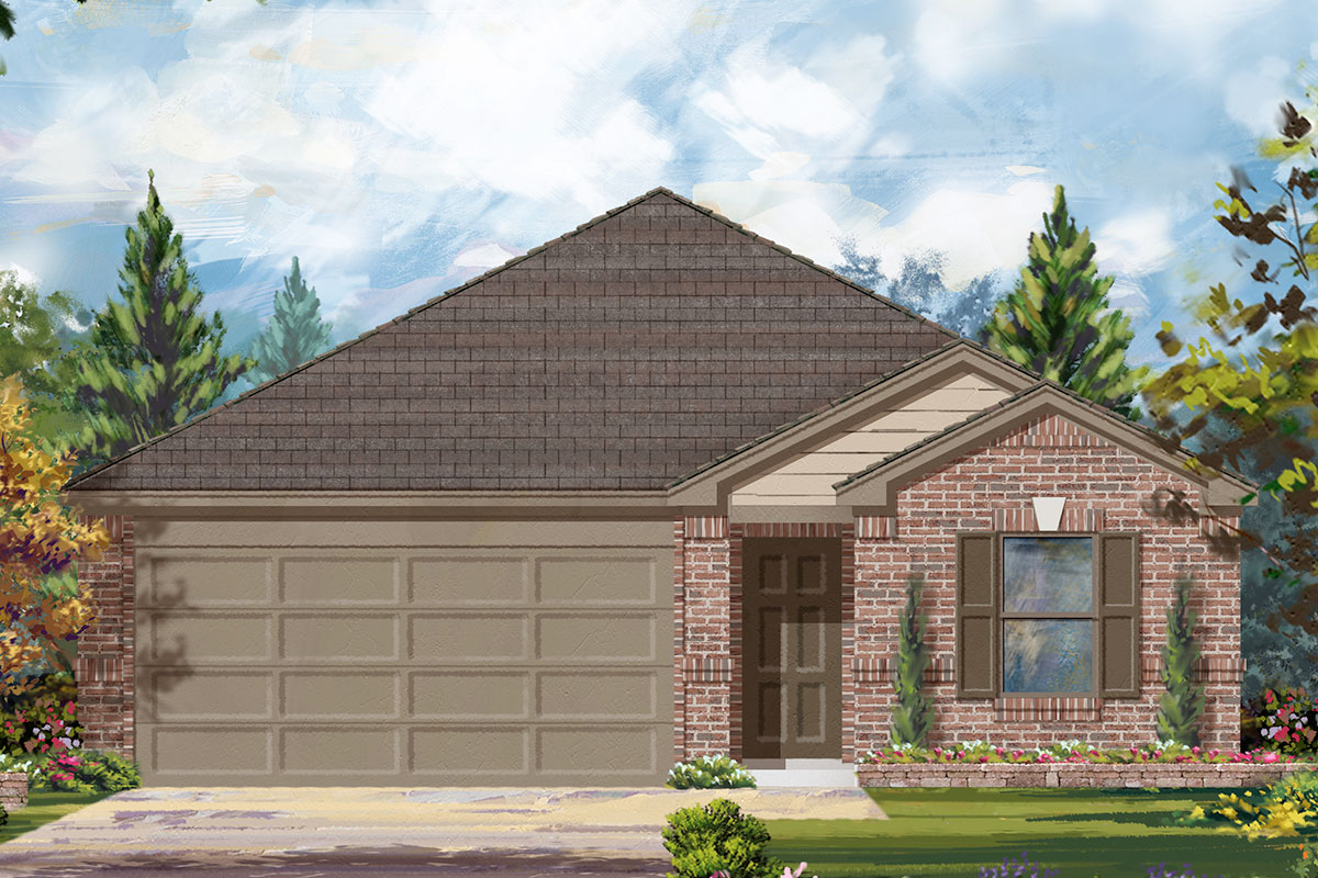 New Homes in Conroe, TX - Elevation B