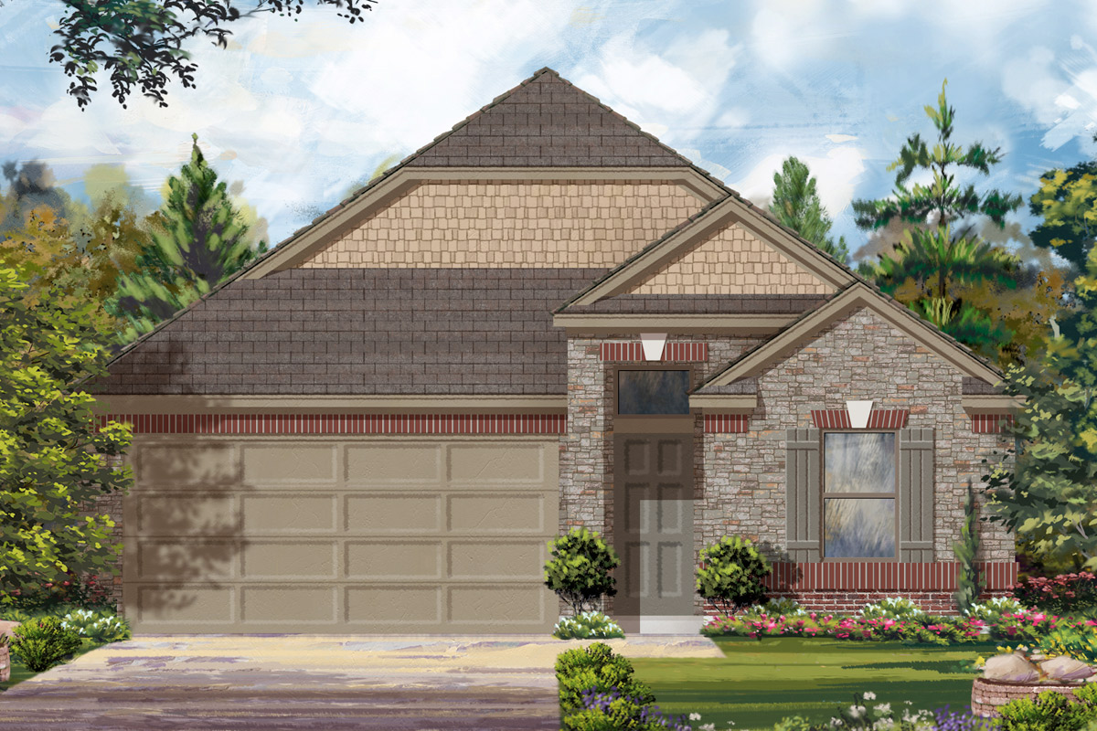 New Homes in Conroe, TX - Elevation F