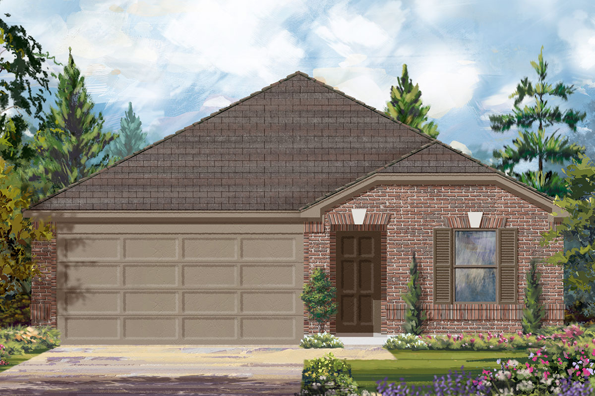 New Homes in Iowa Colony, TX - Elevation B