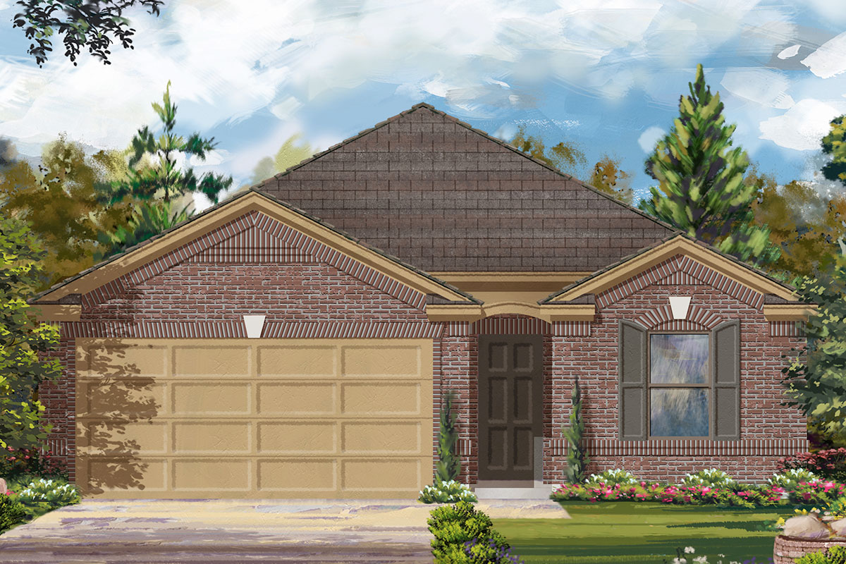 New Homes in Iowa Colony, TX - Elevation C
