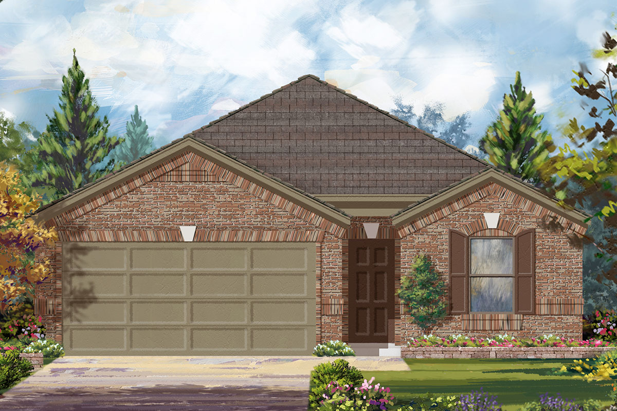 New Homes in Iowa Colony, TX - Elevation D