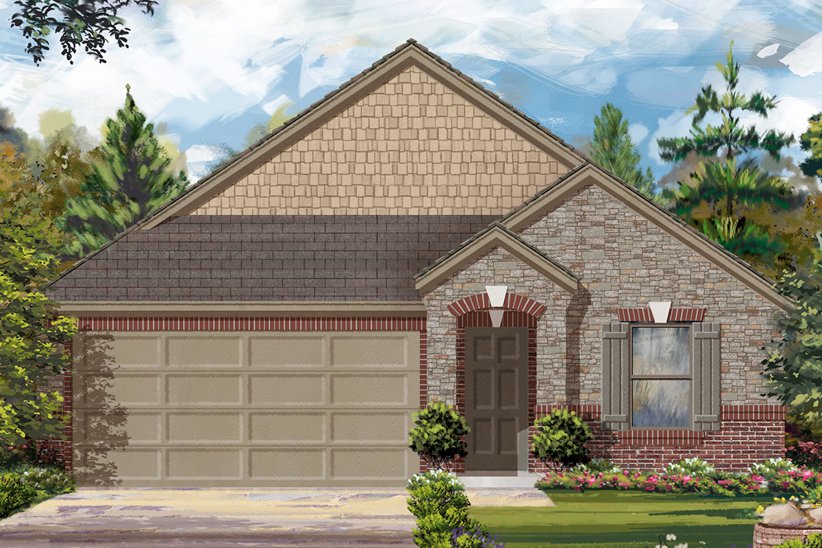 New Homes in Iowa Colony, TX - Elevation F