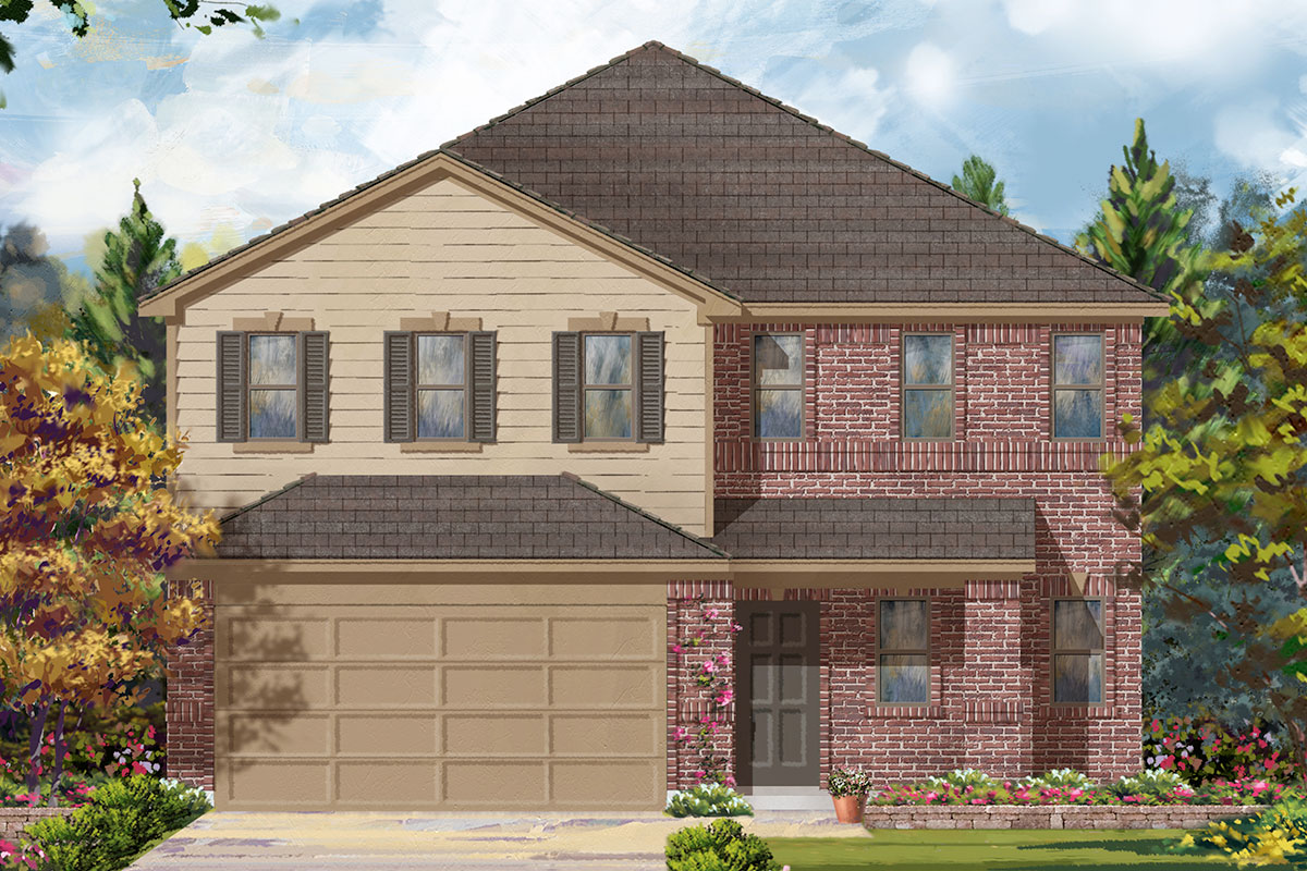New Homes in Missouri City, TX - Olympia Falls Plan 2372 - Elevation A