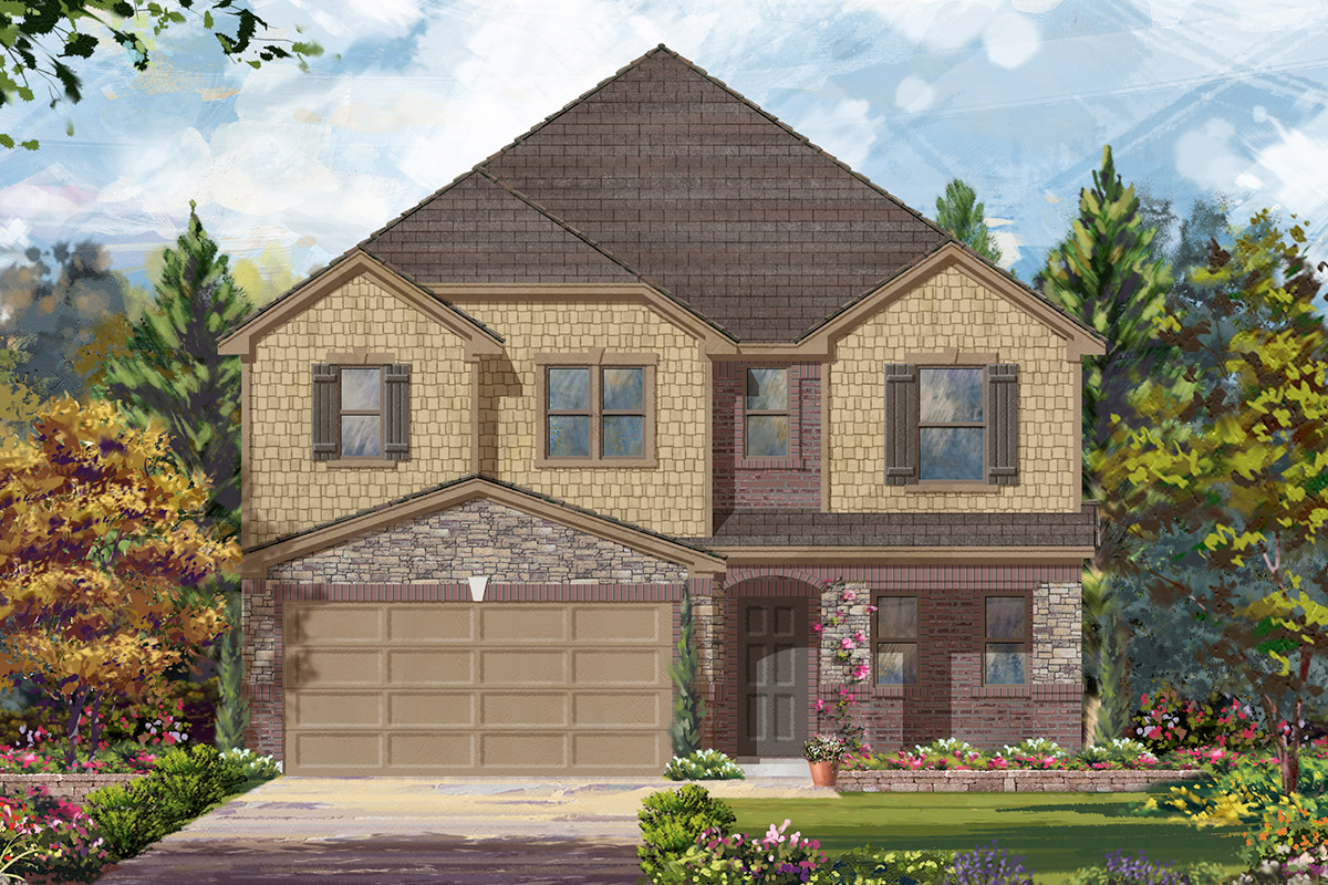 New Homes in Missouri City, TX - Elevation F