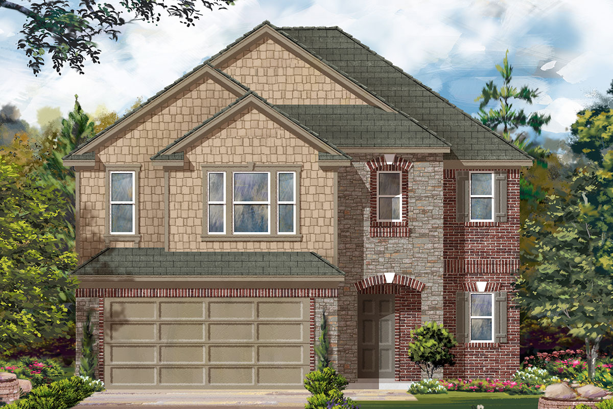 New Homes in Katy, TX - Elevation F