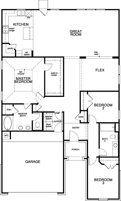 New Homes in Katy, TX - Plan 1836, First Floor