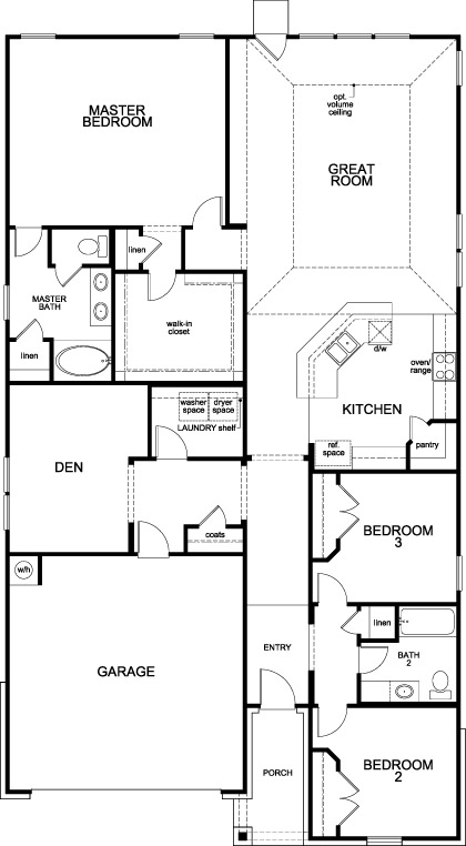 New Homes in Rosenberg, TX - Plan 2130 Modeled, First Floor