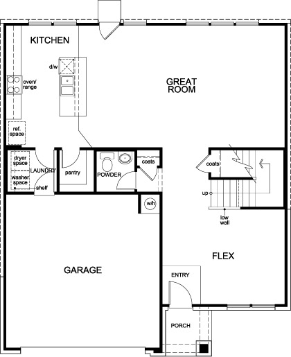 New Homes in Rosenberg, TX - Plan 2539, First Floor