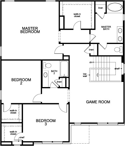 New Homes in Rosenberg, TX - Plan 2539, Second Floor
