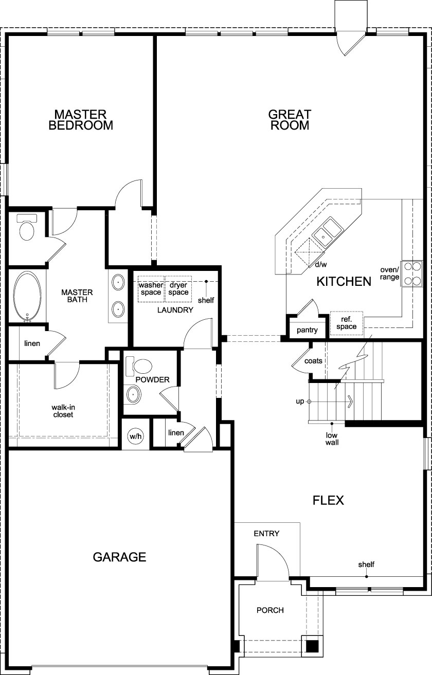New Homes in Magnolia, TX - Plan 2715, First Floor