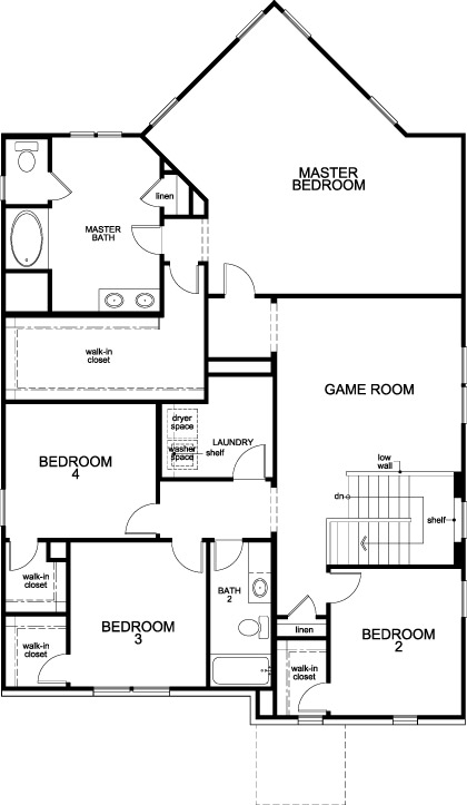 New Homes in Magnolia, TX - Plan 3204, Second Floor