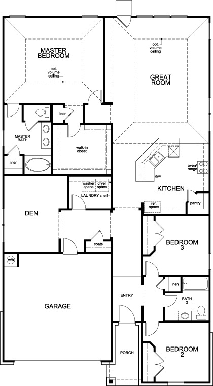 New Homes in Katy, TX - Plan 2130 Modeled, First Floor