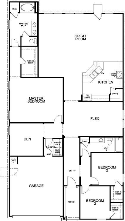 New Homes in Conroe, TX - Plan 2314, First Floor
