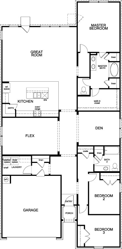 New Homes in Richmond, TX - Plan 2398, First Floor