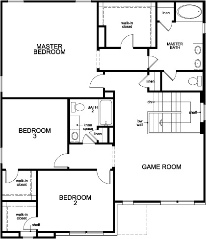 New Homes in Conroe, TX - Plan 2539, Second Floor