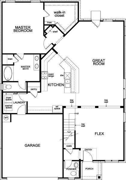New Homes in Katy, TX - Plan 2590, First Floor
